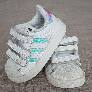 Adidas Superstar Velcro Iridescent Shoes
